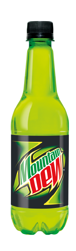 Mountain dew bottle png.