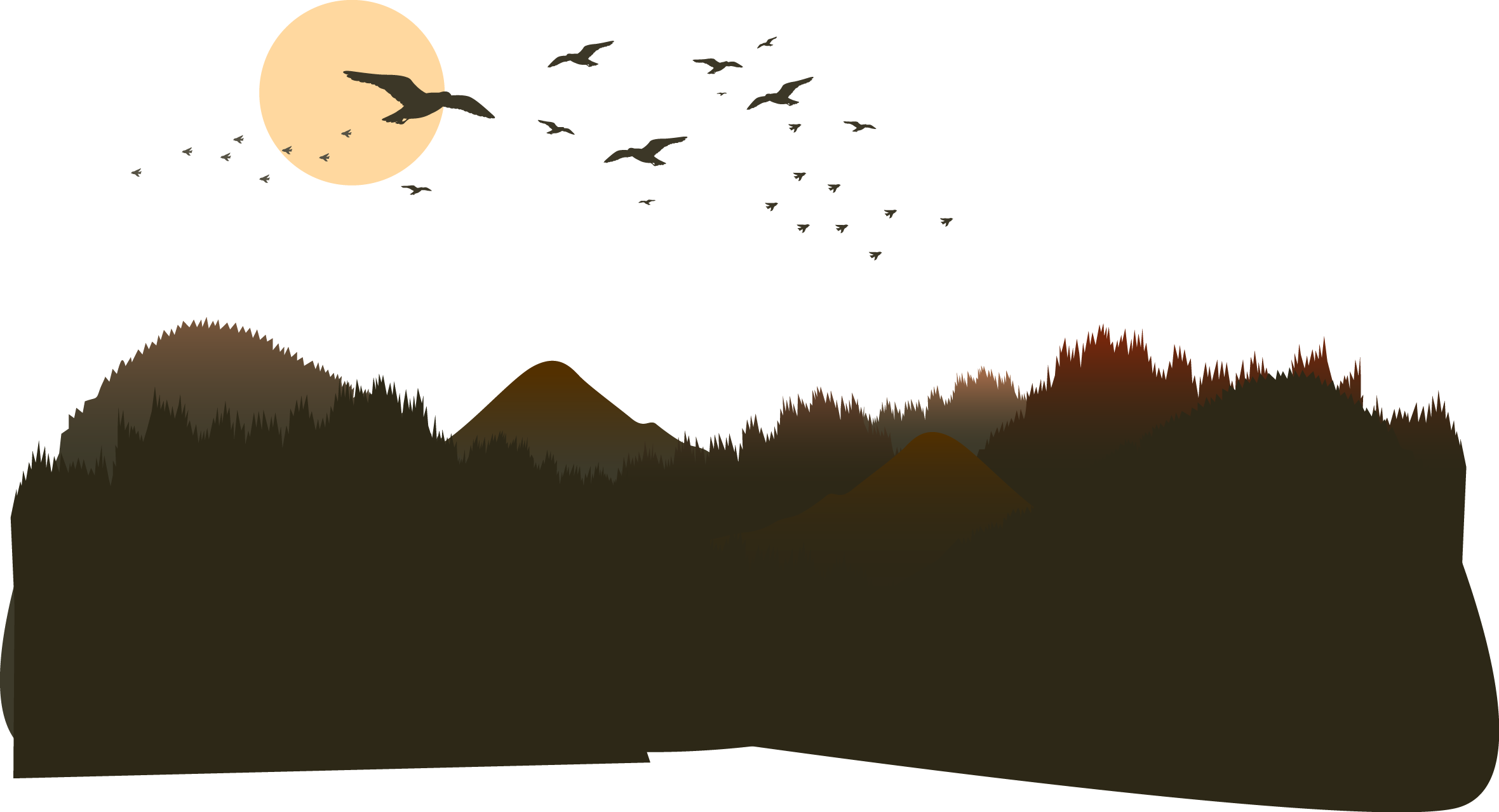 The mountains of transprent. Mountain vector png