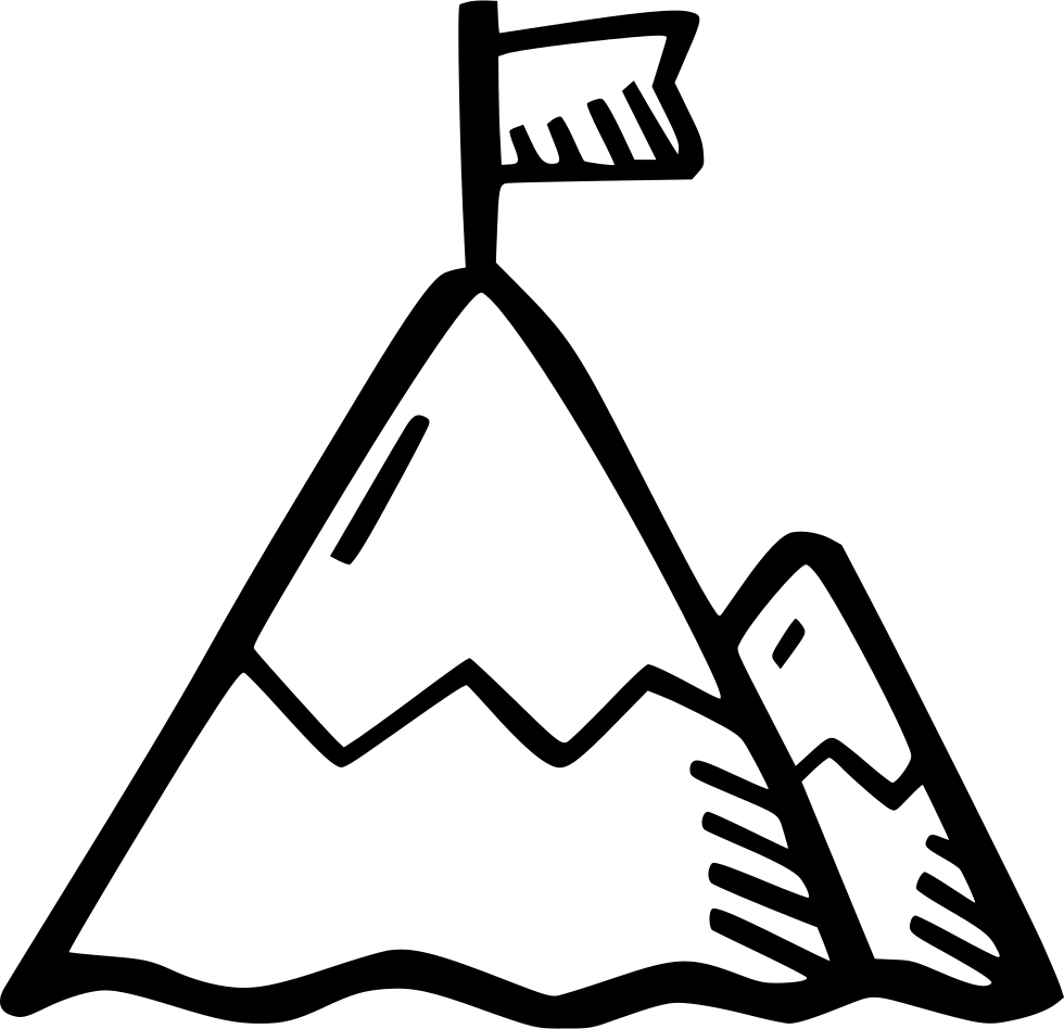 Mountain svg png icon. Mountains clipart boho