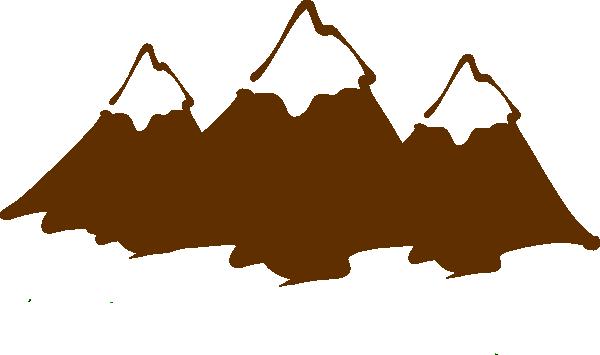 Mountains clipart mountain peak. Black and white