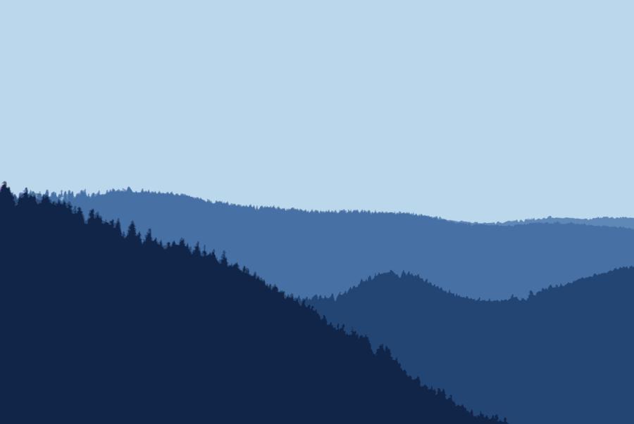 Cartoon tree sky transparent. Mountains clipart mountain scenery