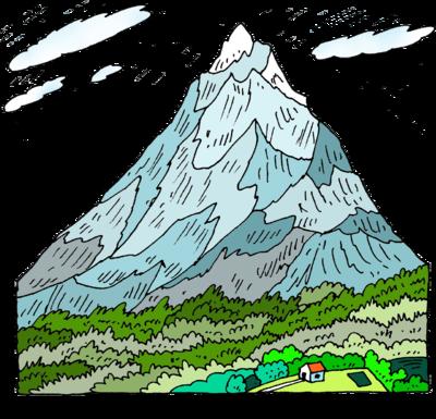 Mountains clipart mountain slope. Image christart com