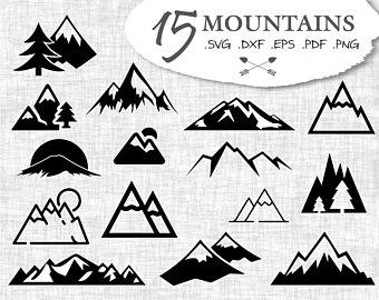 Mountain etsy . Mountains clipart silhouette