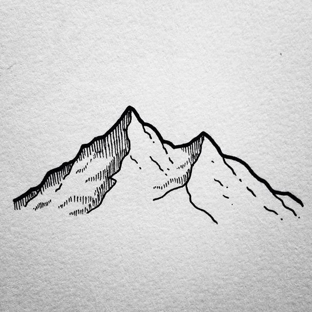 Mountain sketches clip art. Mountains clipart sketch