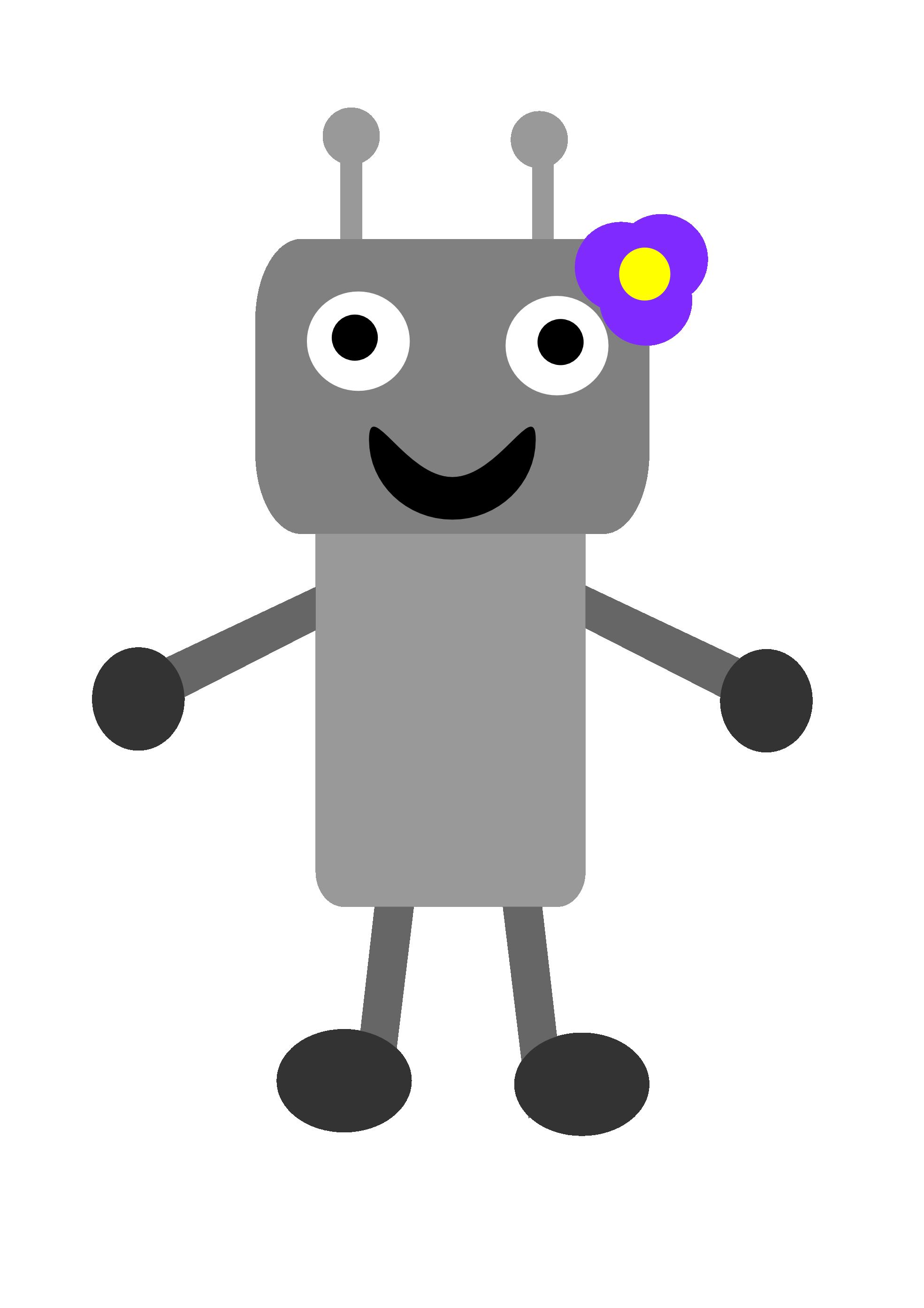 Clipartist net clip art. Robot clipart grey