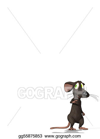 Mouse clipart tiny mouse. Stock illustration worried little