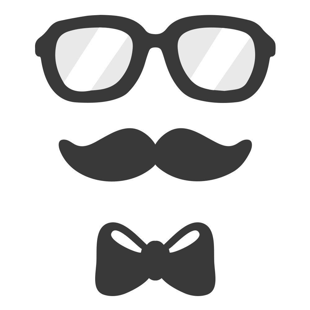 Moustache clipart bow tie. Glasses necktie clip art