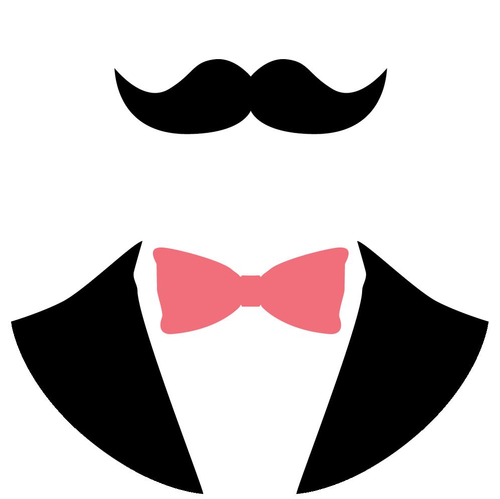 Moustache clipart bow tie. Edgar logo