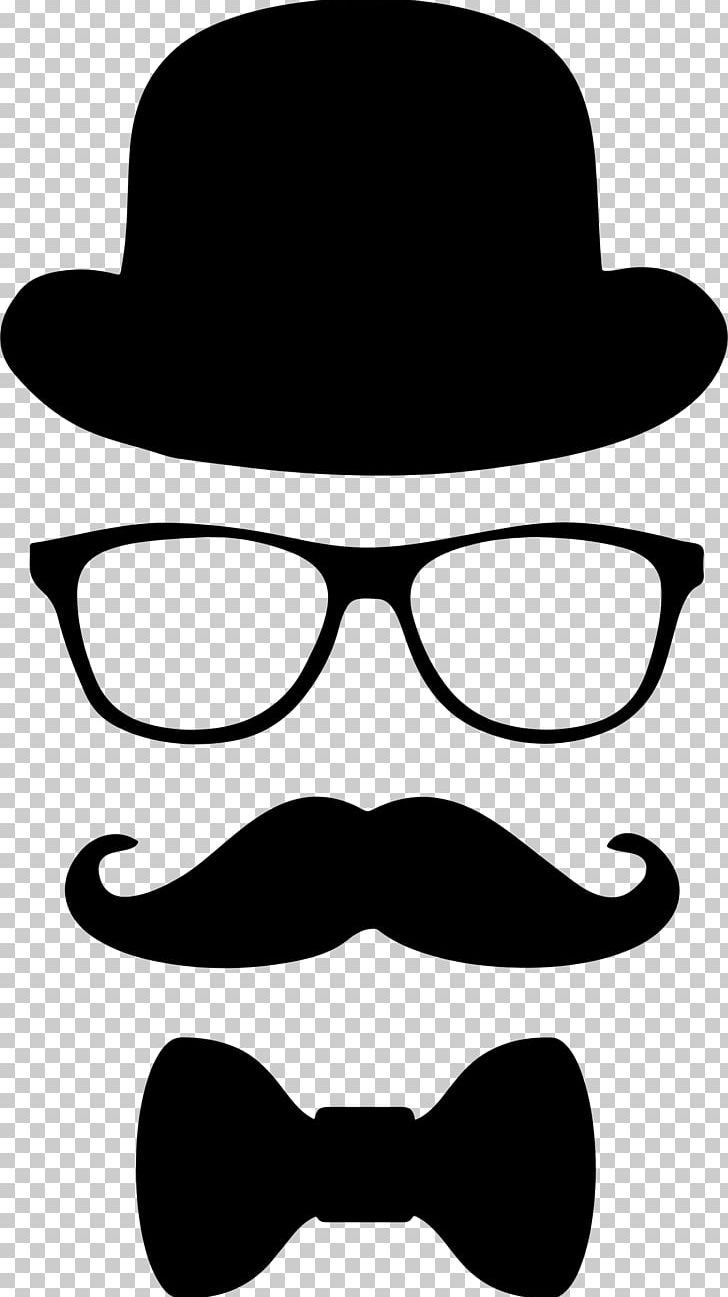 Top hat glasses png. Moustache clipart bow tie