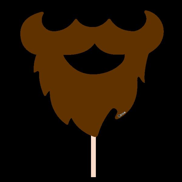 Party photobooth props figure. Moustache clipart brown