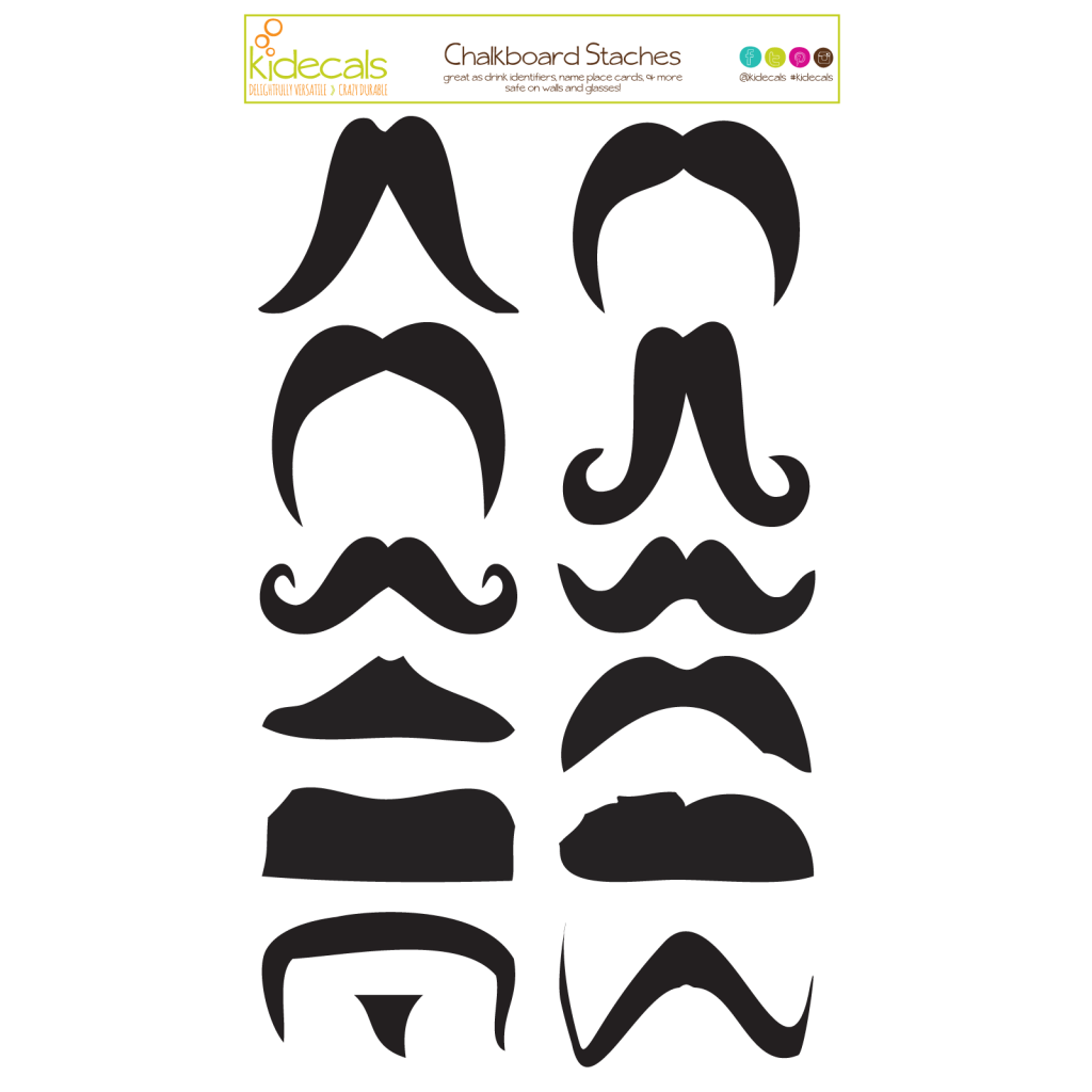 Cummins life kidecals personalized. Moustache clipart chalkboard