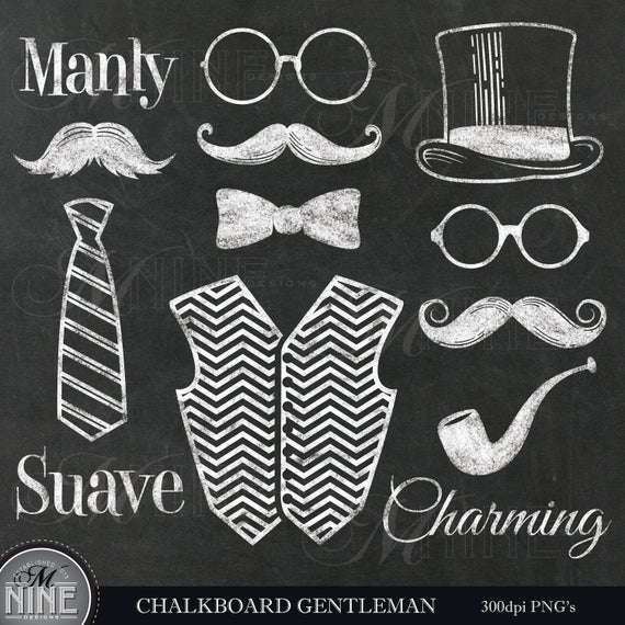 Moustache clipart chalkboard. Gentleman mustache clip art