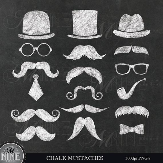 Moustache clipart chalkboard. Chalk mustache theme clip