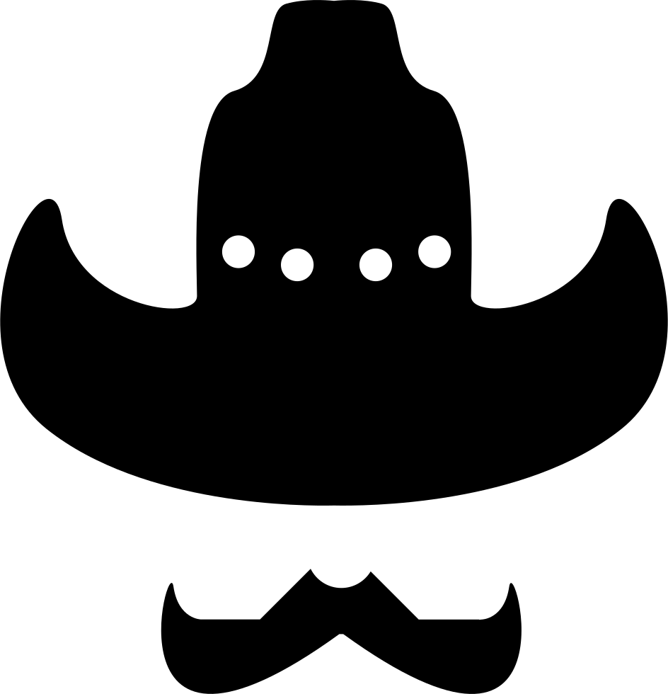 Hat with svg png. Moustache clipart cowboy
