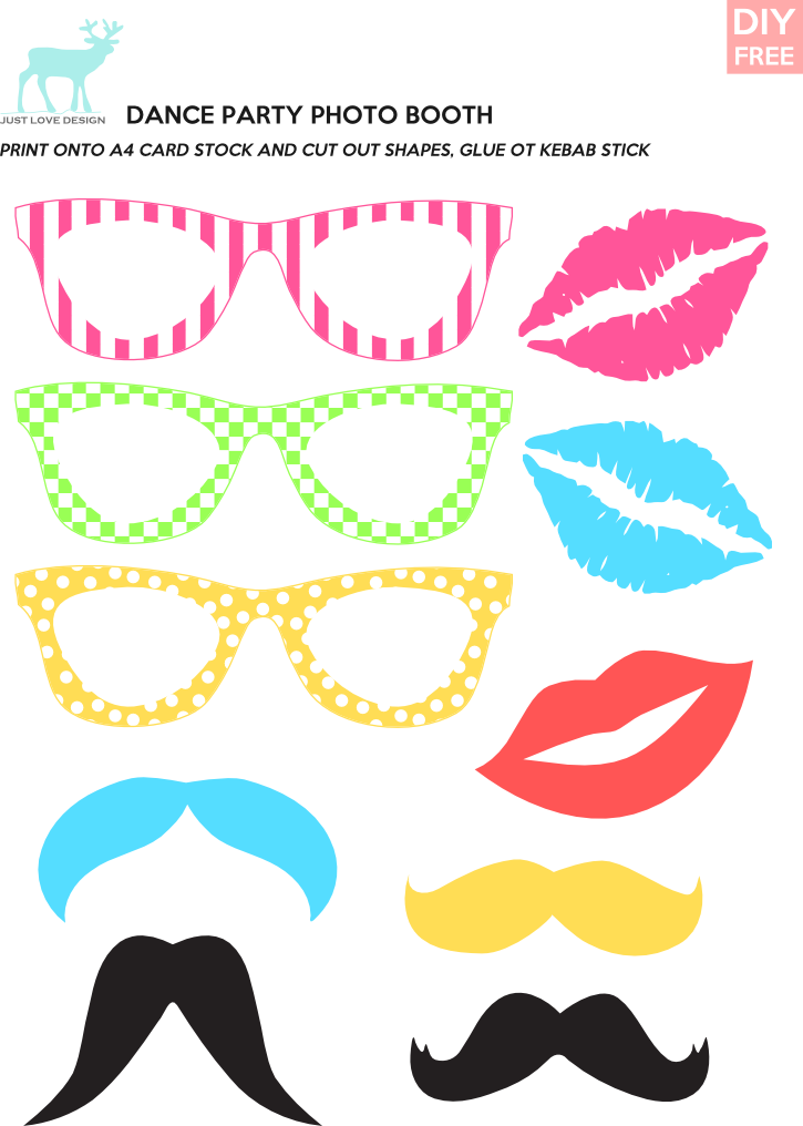 Moustache clipart diy. Free dance party photo