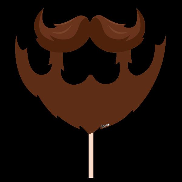 Party photobooth props figure. Moustache clipart facial hair