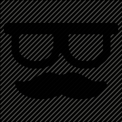 hipster jumpicon glyph. Moustache clipart geek glass