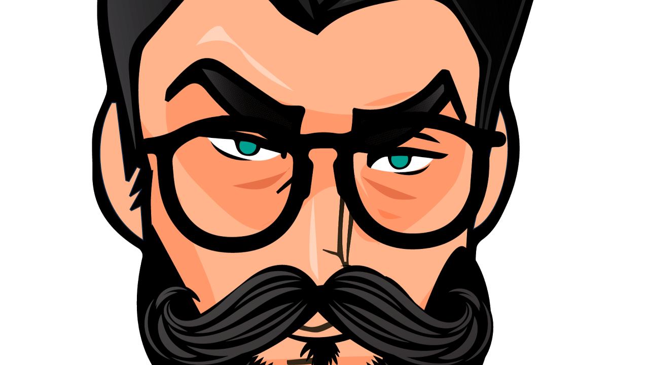 Moustache clipart geeky glass. Shouting geek live stream
