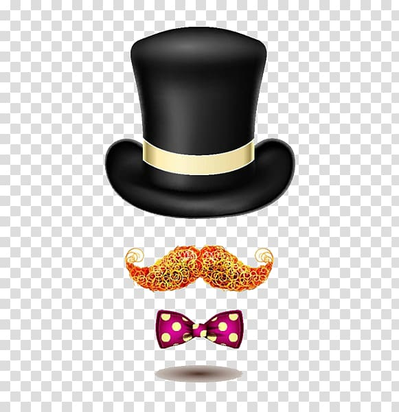 Moustache clipart gentleman hat. Fashion accessory illustration