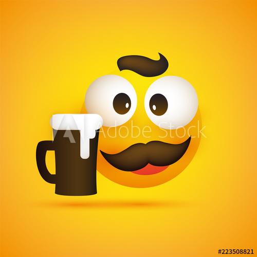 Moustache clipart glass eye. Smiling emoji simple happy
