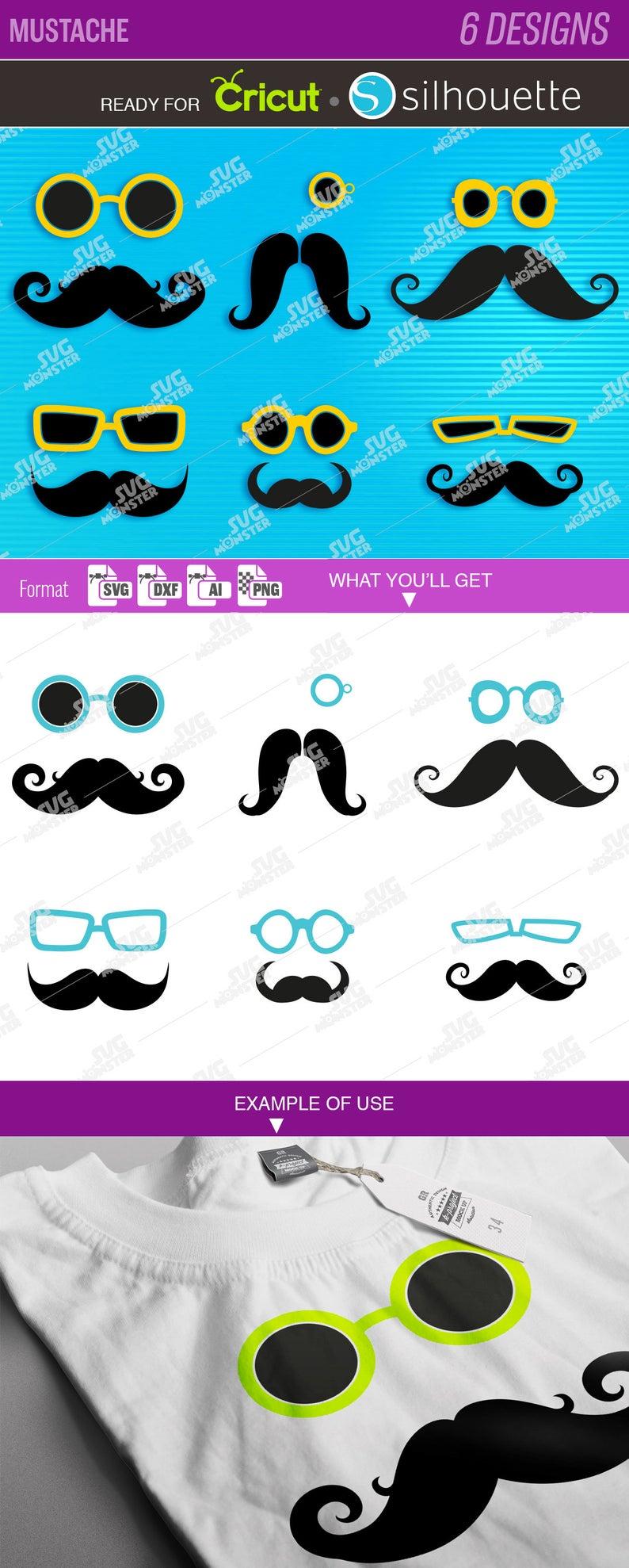 Mustache svg monogram hipster. Moustache clipart glass frame