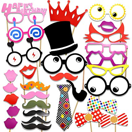 Moustache clipart glass frame. Cooloo photo booth props