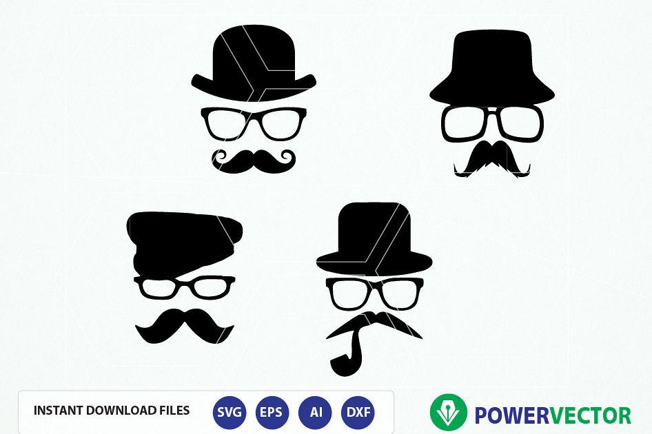 Hipster svg file mustache. Moustache clipart hat