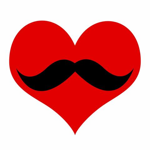 Moustache clipart heart. Free download clip art
