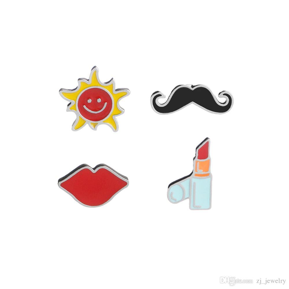 Moustache clipart mustache chinese. Lipstick lips pins sun