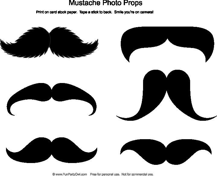 Mustache photo props nd. Moustache clipart neon