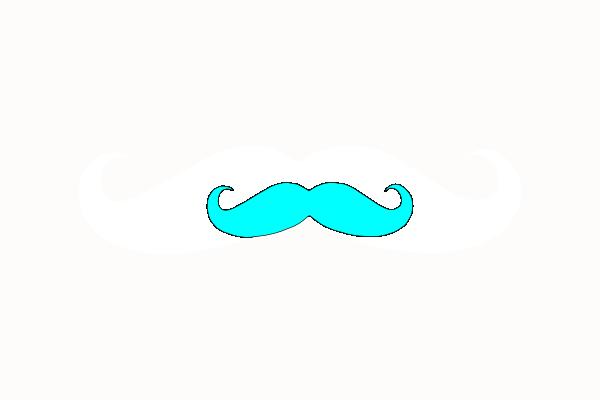Blue mustache clip art. Moustache clipart neon