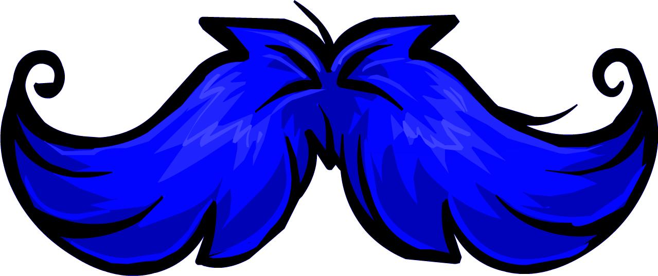 Moustache clipart neon. Image icon blue mustache