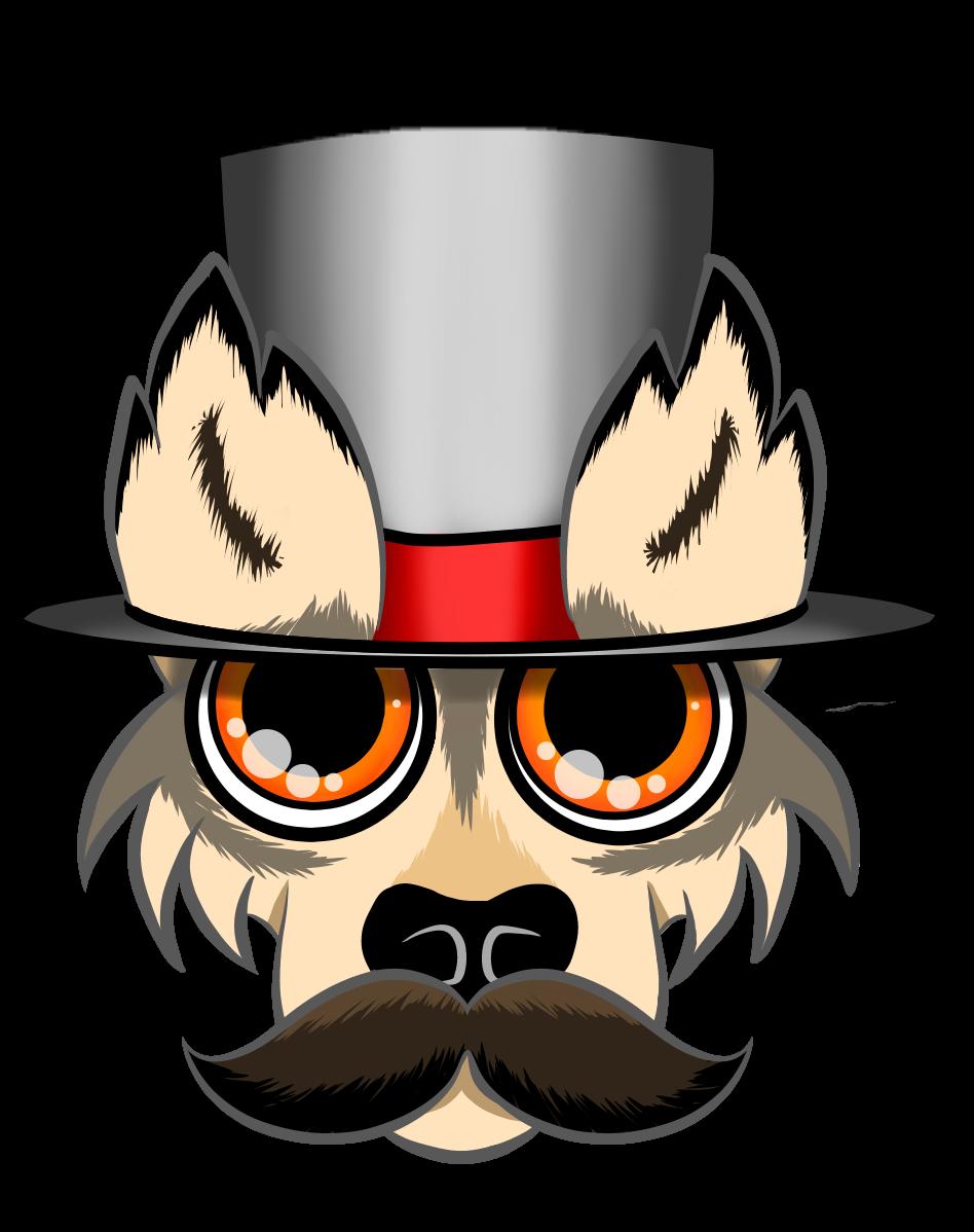 Logic wolf twitter. Moustache clipart nerd glass
