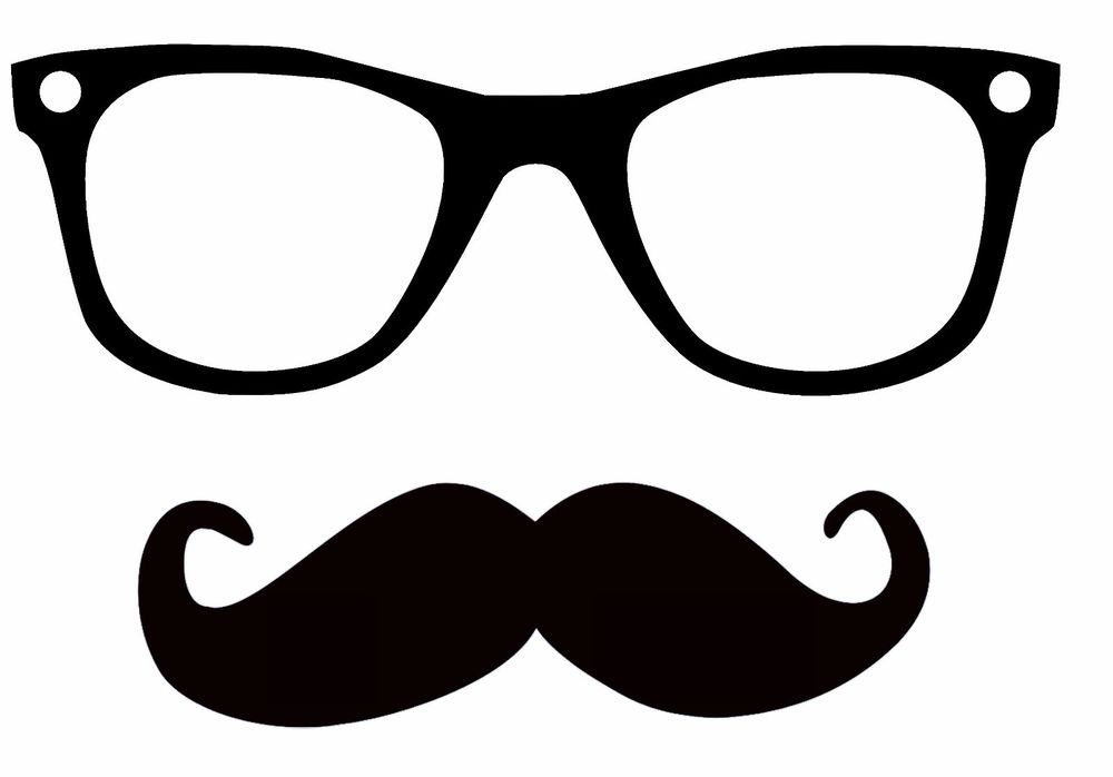Mustache clipart nerd glass. Details about hipster glasses