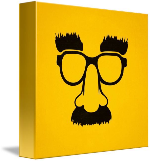 Moustache clipart nerd glass. Groucho mask glasses by