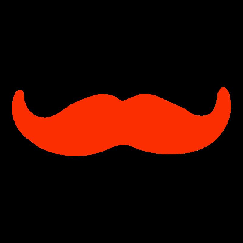 Moustache clipart orange. Baffo piccolo papilbo basic