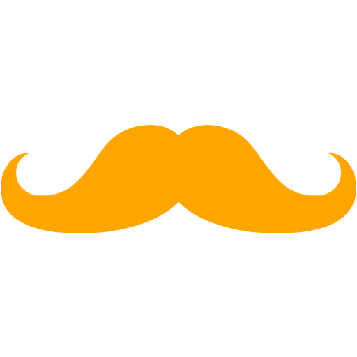 Moustache clipart orange. Mustache icon free icons