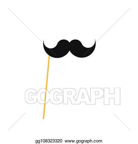 Eps illustration fake mustache. Moustache clipart paper