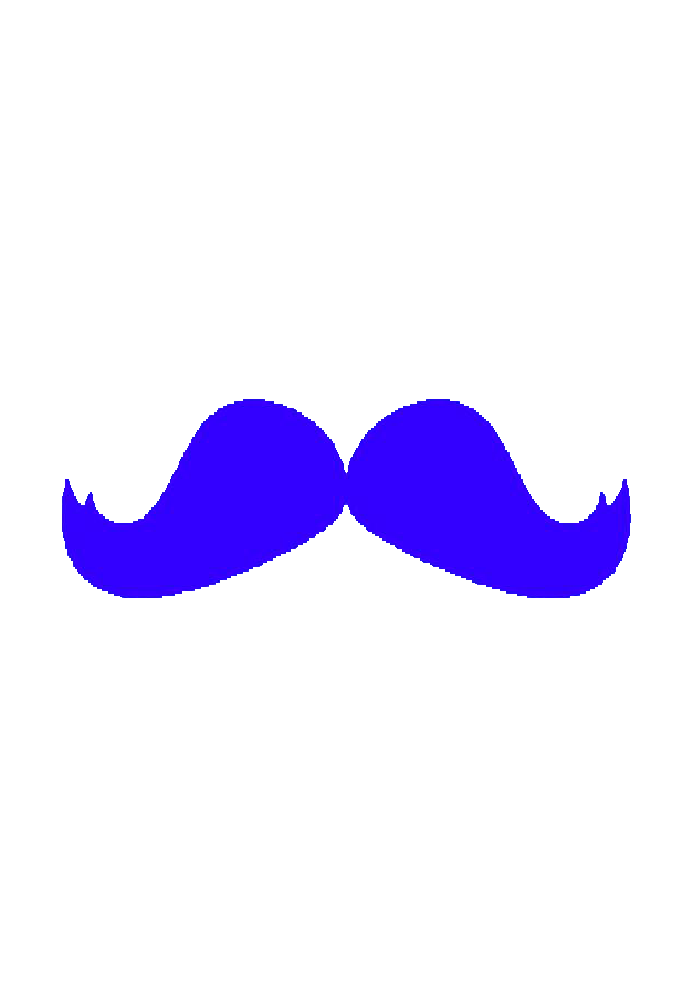 Fixed gear bicycle beard. Moustache clipart paper