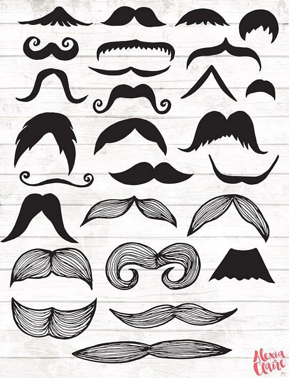 Moustache clipart paper. Hand drawn gentleman