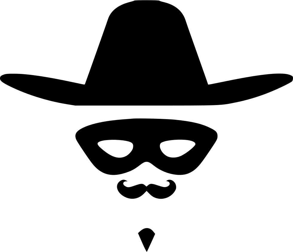 Zorro hat face hero. Moustache clipart pirate accessory