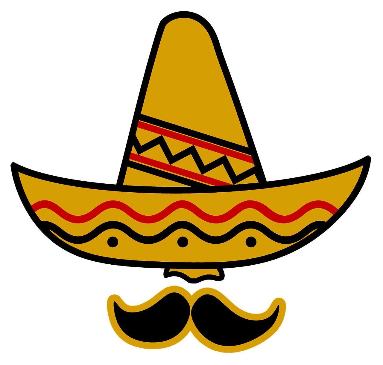 Free image on pixabay. Moustache clipart poncho mexican