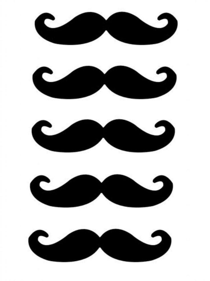 Mustache images free download. Moustache clipart printable