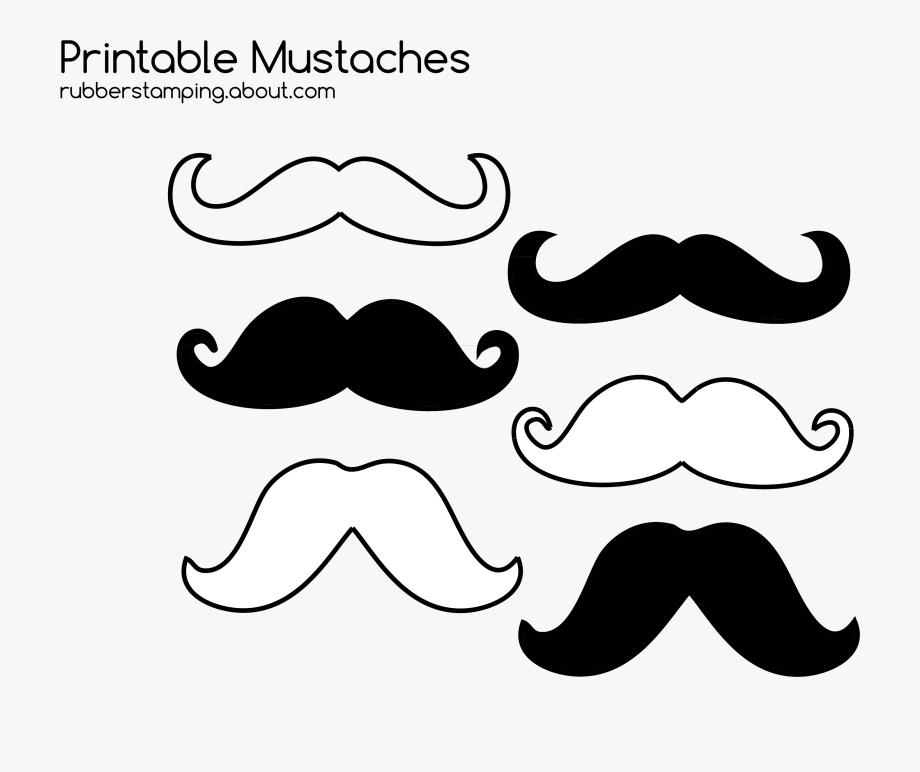 Moustache clipart printable. Free mustache image