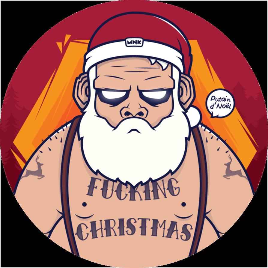 Moustache clipart santa. Crew by nouam on