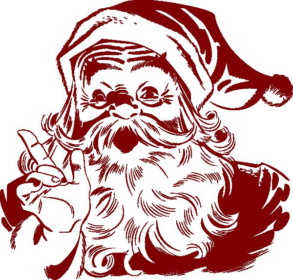 Dark red clip art. Moustache clipart santa