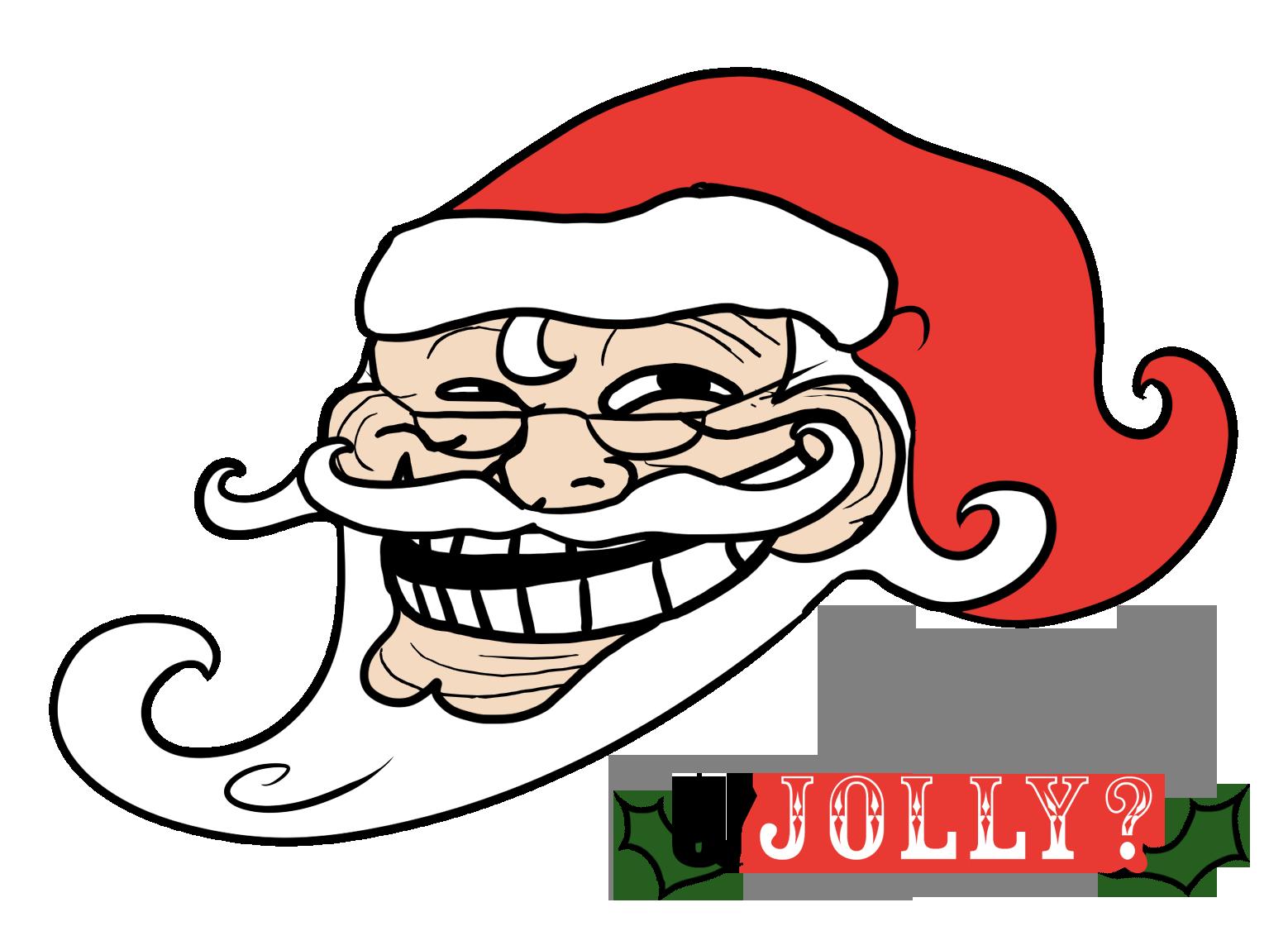 Moustache clipart santa. Image satna klause troll