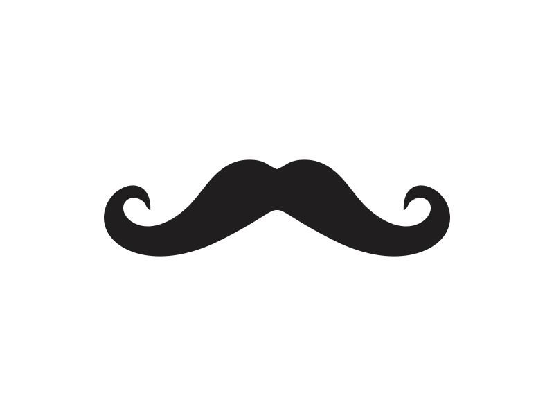 Mustache unpainted wooden clip. Moustache clipart shape