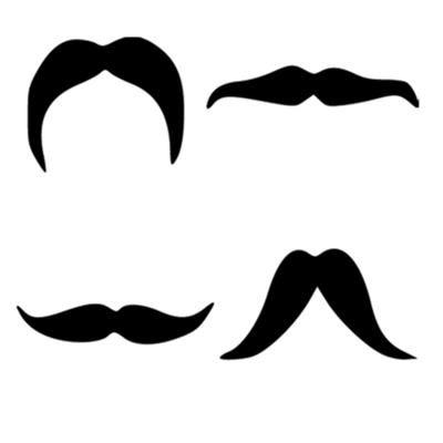 Moustache clipart shape. Four other shapes you