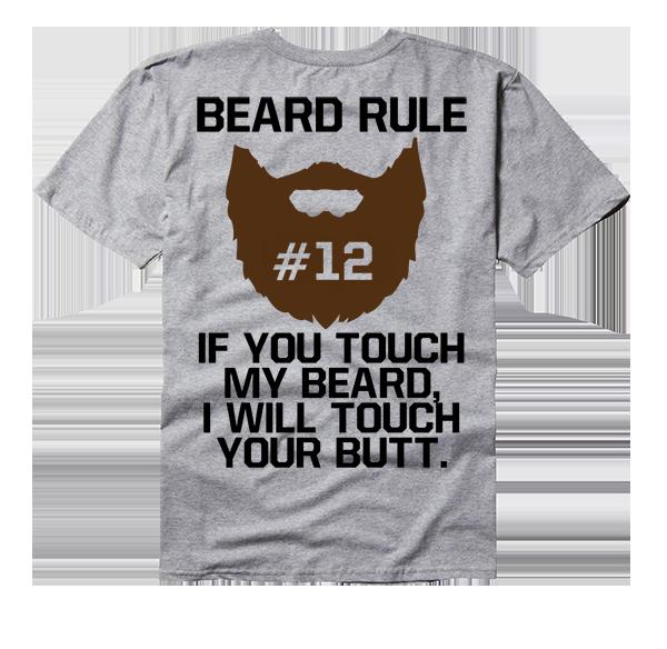 Rule if you touch. Moustache clipart short beard